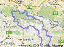 Pirineos, Pre-Pirineos y curvas  Total recorrido: 988 Km.