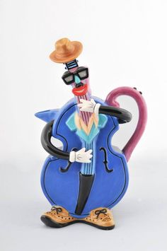 """All That Jazz"" Collectible Teapot. Yes, they did think of everything.  B."