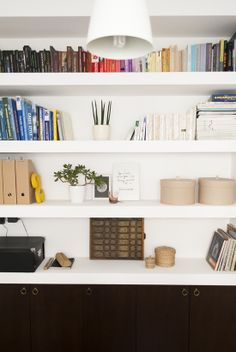 The home office redecoration of My Paradissi ©Eleni Psyllaki Workspace Inspiration, Interior Inspiration, Office Decor, Home Office, Office Nook, Armoire, Office Supply Organization, Contemporary Interior, Home And Living