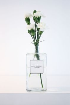 perfume bottle vase// jo malone