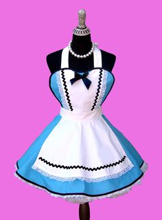 Costume Women's Apron Costume Womens Apron by OnceUponAPoodle Cool Costumes, Costumes For Women, Disney Aprons, Captain America Cosplay, Alice Costume, Retro Apron, Sewing Aprons, Kids Apron, Halloween Disfraces