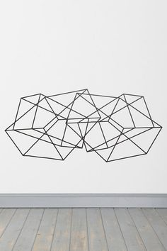 Geometric Wall Decal could do with black tape!