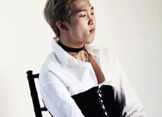 Namjoon with a choker and a corset is breathtakingly majestic Kim Namjoon, Rapmon, Bts Jimin, Seokjin, Hoseok, Mixtape, Daehyun, Bts Singles, K Pop Wallpaper
