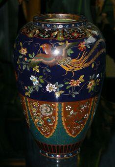 Japanese Cloisonne Enamel Vase Namikawa Style (item #1112636, detailed views)
