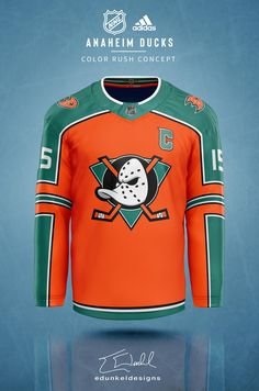 Hockey fans will love these NHL colour rush jersey concepts - Article - Bardown Nhl Red Wings, Nhl Winter Classic, Hockey Logos, Olympic Games Sports, Color Rush, St Louis Blues, Nhl Jerseys, Anaheim Ducks, Team Logo