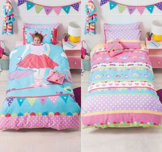 cubby-house-kids-tabitha-tightrope-quilt-cover-set-range Small Nurseries, Cubby Houses, Quilt Cover Sets, Cubbies, Nursery Room, Linen Bedding, Comforters, Toddler Bed, Range