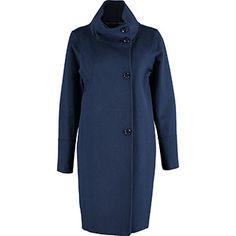 Navy Funnel Neck Coat Tk Maxx, Funnel Neck, Navy, Coat, Jackets, Fashion, Hale Navy, Down Jackets, Moda