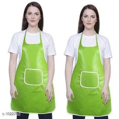 Aprons Classic Aprons ( Pack Of 2)  *Material * Apron - PVC  *Size (L x W)* Apron - 18  in x 28 in  *Description* It Has 2 Piece Of Kitchen Apron  *Pattern* Solid  *Sizes Available* Free Size *   Catalog Rating: ★4.2 (220)  Catalog Name: Hiba Lovely Aprons Combo Vol 1 CatalogID_123448 C129-SC1633 Code: 142-1022762-