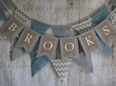 Custom banner. Natural steal blue grey and by ThePartyOrchard