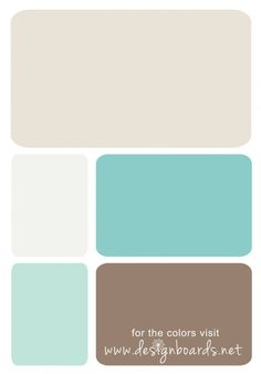 Color Board: Turquoise Blues and Brown | Design Boards