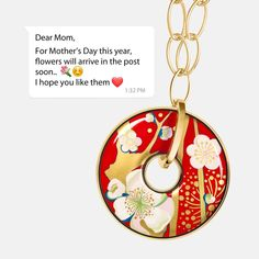 Flowers in your post box? Inspired by Vincent van Gogh's 'Almond Blossoms' painting, FREYWILLE captures the beauty of flowers in full bloom for you to pick this Mother's Day. Almond Blossom, Dear Mom, Post Box, Van Gogh, Blossoms, Washer Necklace, Gift Ideas, Jewels, Inspired