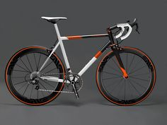 A stainless steel Primarius with white, black and Chris King Precision Components Mango also looks pretty cool together with the Continental II orange tires! Bicycle Paint Job, Bicycle Painting, Velo Design, Bicycle Design, Road Bikes, Cycling Bikes, Road Cycling, Bmx, Garage Bike