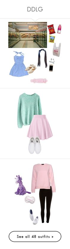 """""""DDLG"""" by jadenblanche02 ❤ liked on Polyvore featuring Forever 21, Topshop, Chicwish, Vans, Aurora World, River Island, A.P.C., Keds, Essie and Humble Chic"""