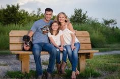 Family with pooch