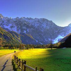 Mountains & sunlight in Slovenia