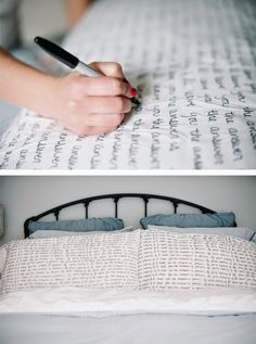 DIY Sharpie Pillowcases by A Subtle Revelry - tons of cool sharpie tutorials!  Would be cute idea for kids bedrooms