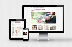 Wordpress Theme Responsive Template Blog 4 page website photography Premade design digital  photographer fashion food Etsy INSTANT DOWNLOAD