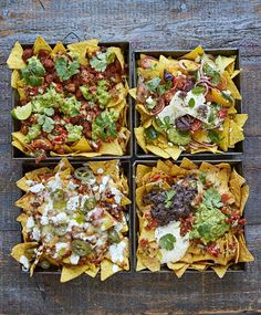 Epic nachos, 4 ways Jamie Oliver - Food and drink Mexican Dinner Party, How To Make Nachos, Cooking Recipes, Healthy Recipes, Skillet Recipes, Cooking Tools, Cooking Gadgets, Easy Party Food, Money Saving Meals