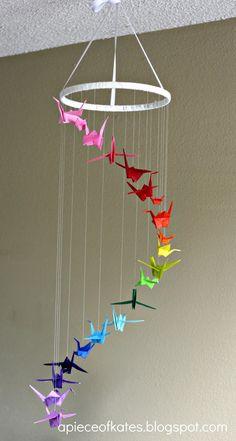 Movil de grullas • Origami Crane Mobile