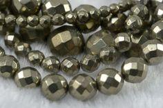 pyrite,faceted round bead,4mm,bronze bead,stone bead,natural bead,gemstone,jewelry making #handmade #stonebeads