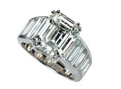 Angelina jolie ring knockoff, Jacob & Co diamond emerald cut wedding ring