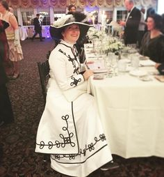 By Jarrett J. Krosoczka: Gina at the Downton Abbey Ball. Great fundraiser for WGBY. G hates attention. HATES it. Not only did several people ask for her photo but she won a costume contest. It was a lot of fun to watch! #downtonabbey #pbs #writinglife #graphicnovels #lunchlady