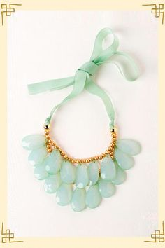 Costa Rica Teardrop Necklace in Mint - Francescas.....I have a thing for mint color this season!