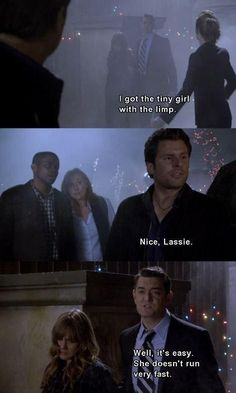 Psych ~ Lassie: I got the tiny girl with the limp. Lassie: Well, it's easy. She doesn't run very fast. Psych Memes, Psych Quotes, Psych Tv, Tv Show Quotes, Best Tv Shows, Best Shows Ever, Favorite Tv Shows, Movies And Tv Shows, Shawn And Gus