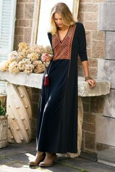 Andes Dress - Long Sleeve Maxi Dress, Long Dress | Soft Surroundings