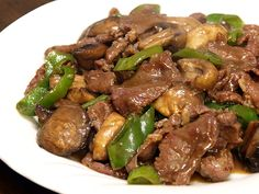 Filipino: Beef Salpicao (Sirloin with Peppers and Mushrooms)
