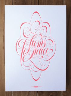 Express Yourself - Lettering & Letterpress exhibition by La Trastería , via Behance