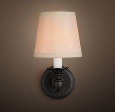 RH's Lugarno Single Sconce:Lugarno is reminiscent of lighting in Europe's premier hotels.
