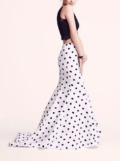 Obsessed with this polka dot mermaid skirt and embellished lace crop top @nordstrom