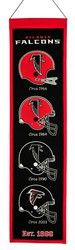 "Atlanta Falcons Wool Heritage Banner - 8""x32"""