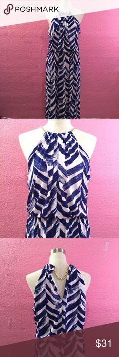 Maxi dress chain detail blue white Maxi dress chain detail blue white Bisou Bisou Dresses