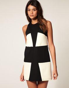 Color block shift dress, asos
