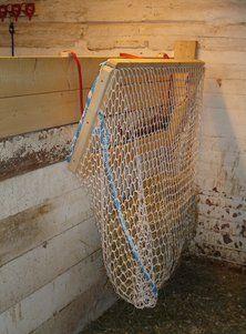 hockey net hay net | 1000+ images about Horses: Slowfeeders on Pinterest | Hay feeder, Hay ...