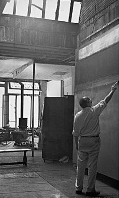 Mark Rothko in his West 53rd Street studio, 1952-1953, photograph by Henry Elkan, Smithsonian