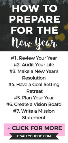 The new year is almost here, are you ready? Click here for 15 ways to prepare for a successful and prosperous new year. Plus, get the best goal-setting and planning tips for the new year. #NewYearGoals #NewYearNewYou #NewYears #BestYearYet