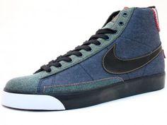 Nuova Collezione Nike Blazer Mid Premium Denim Pack Scarpe Donne Italia Negozi