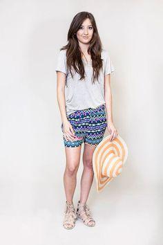 Honey and Lace : La Jolla Harem Short Harem Shorts, Boho Shorts, Honey Lace, Cute Wedges, La Jolla, Short Dresses, My Style, Stylish, Tees
