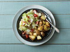 Zomerse salade met geitenkaas, krieltjes en sinaasappeldressing