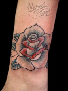 Old school rose custom tattoo