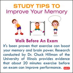 Walk Before An Exam