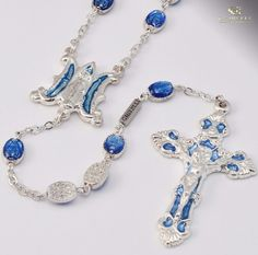 Miraculous Medals Silver Plated Rosary By Ghirelli