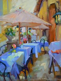 """Daily Paintworks - """"Italian Blues"""" by Dreama Tolle Perry"""