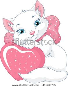 White cat vector image on VectorStock Black And White Kittens, White Cats, White White, Kittens Cutest, Cats And Kittens, Jazz Cat, Gata Marie, Cute Cartoon, Your Pet