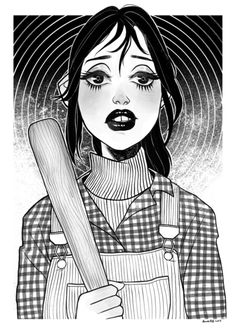 Wendy Torrance, an art print by Anna Rosenkrans Birkedal Scary Movies, Horror Movies, Horror Drawing, Retro Poster, Horror Icons, Arte Sketchbook, Iconic Movies, The Shining, Vampires