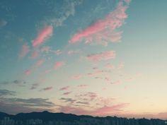 핑크빛 하늘