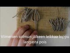 (4) Ryijynukka - YouTube Crafts To Do, Crafts For Kids, Rya Rug, Decoration, Macrame, Projects To Try, Make It Yourself, Youtube, Workshop